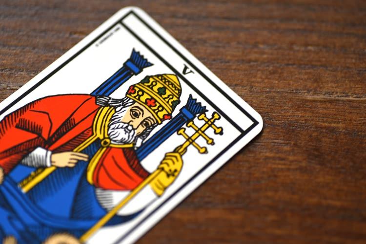 Le nombre de la carte de Le Pape