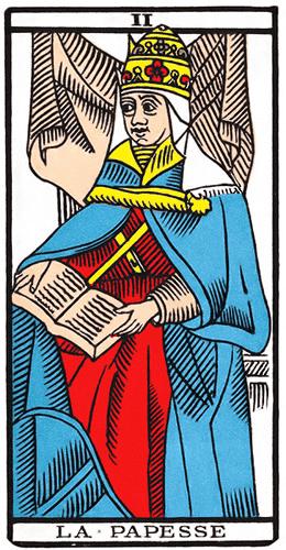 Carte de Tarot, La Papesse