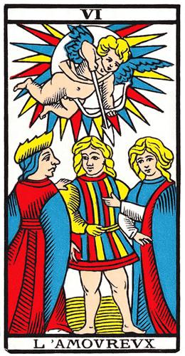 Carte de Tarot, l'Amoureux
