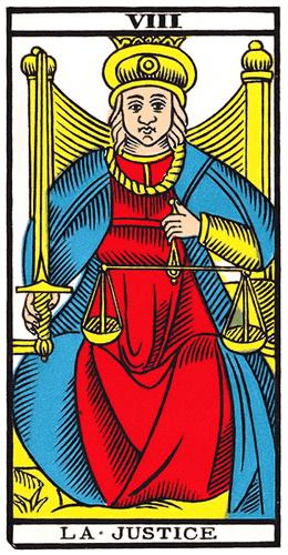 Carte de Tarot, La Justice