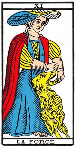 Carte de Tarot, La Force