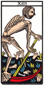 La Mort (Arcane sans Nom, XIII) dans le Tarot de Marseille