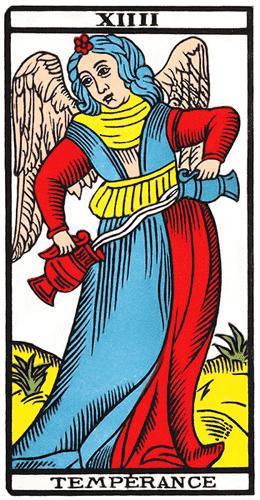 Carte de Tarot, La Temperance